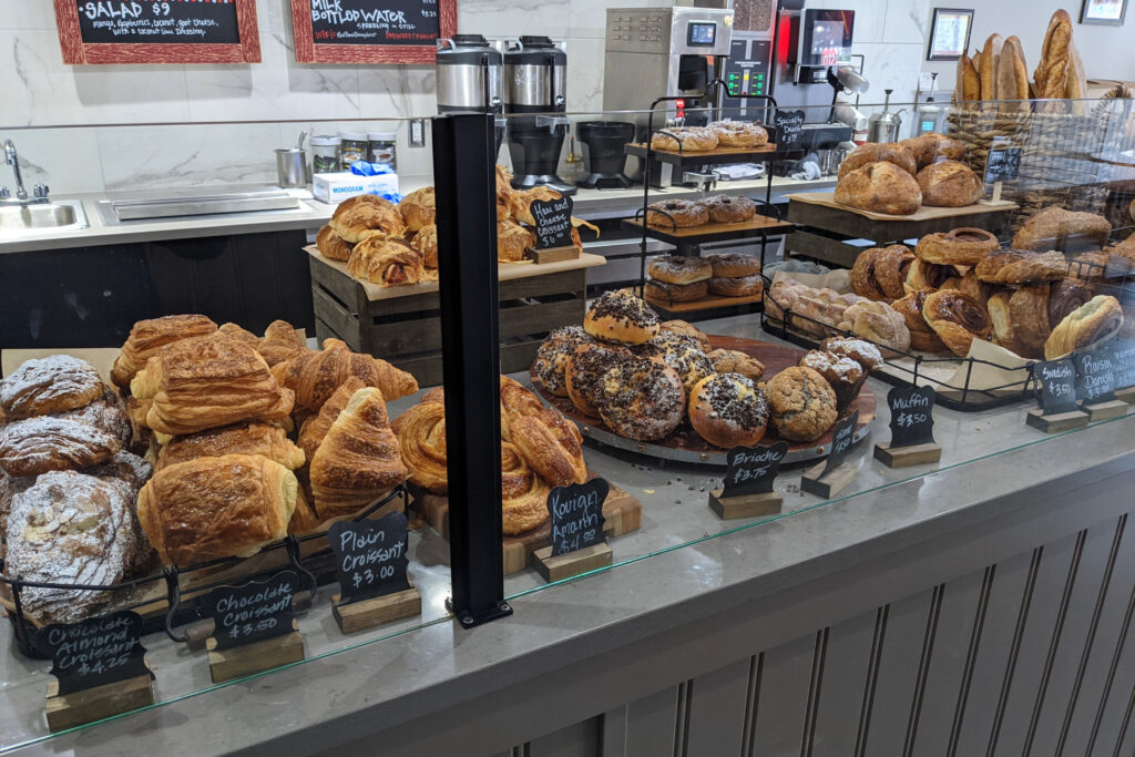 View of the bakery counter